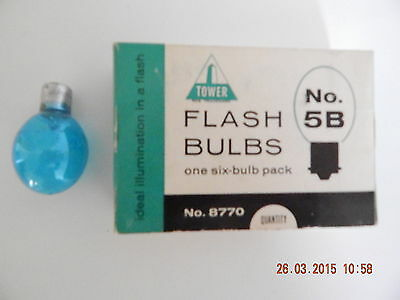 Vintage Flash Bulbs, Tower ( Sears ) New Old Stock, No. 8770- 5B