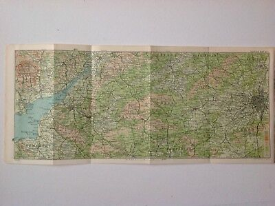 Wilts, Hampshire, Berks, Oxford & Somerset, 1908,  Antique Map, Original