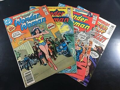 DC Comics WONDER WOMAN #269 270 286 288 LOT of 4 Rare BRONZE AGE Key SHIPS FREE!