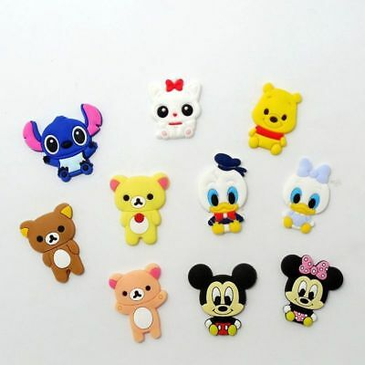 10 Mickey Mouse Pooh & Relax Bears kids jibbitz crocs shoe charms cake toppers