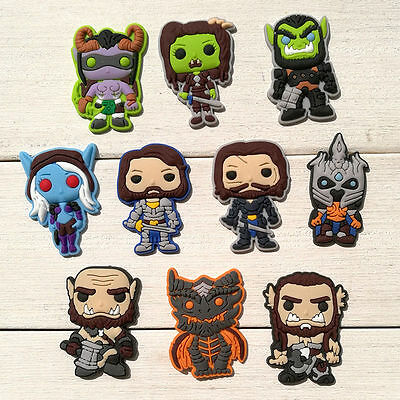 10 World Of Warcraft WOW jibbitz crocs wrist loom band shoe charms cake toppers