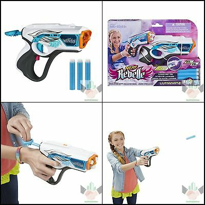 Nerf N Strike Rebelle Zombie Blaster Gun Kid Toy Rapid Fire Foam Glowing Dart
