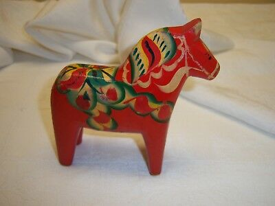 Vintage/antique Hand Painted Wooden Dala Horse