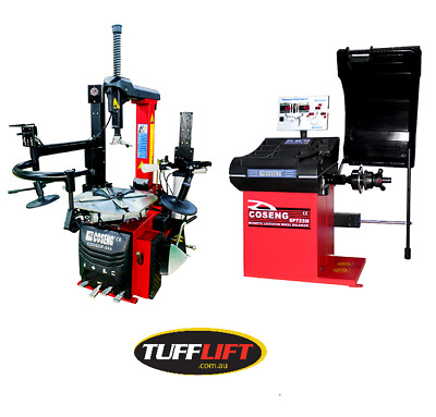 Tyre Changer with Inflation System, Dual Assist Arm and Wheel Balancer