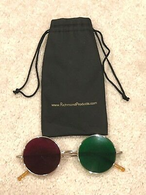 Richmond Metal Frame Stereoscope Anaglyphic 3D Sunglasses Red Green Optometry