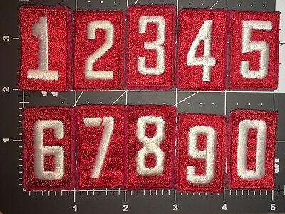 Boy Scout Of America Vintage Red Troop Numbers Used