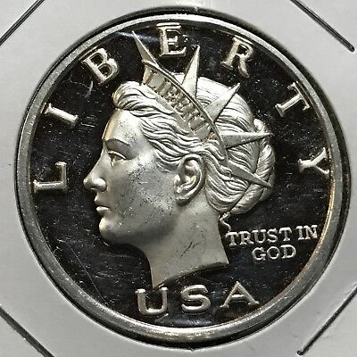 2000 Norfed Lady Liberty / Torch .999 Silver Proof One Ounce Scarce Coin