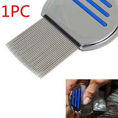 Hair Lice Comb Brushes Nit Free Terminator Fine Egg Removal Dust Stainless Steel
