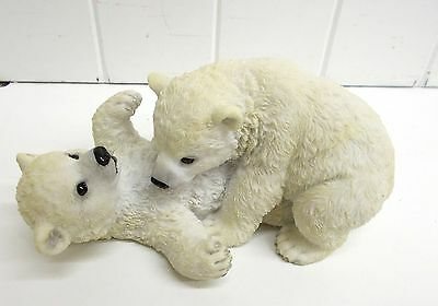Wu75446 Playing Polar Bear Cubs Unicorn Studios Statue Figurine Decoration