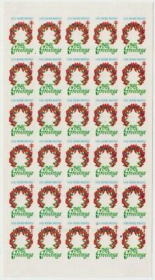 Bedford Industries Tuberculosis Association 1965 Christmas Seals sheet of 30