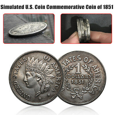 1851 Silver Dollar UNITED STATES OF AMERICA $1 US Antique Commemorative Coin 1PC