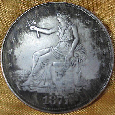 1PC 1877 Antique Dollar Collection Dollar $1 US United Silver Commemorative Coin