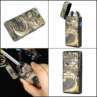 Atomic USB Electronic Lighter Dual Arc Flameless Plasma Rechargeable Windproof