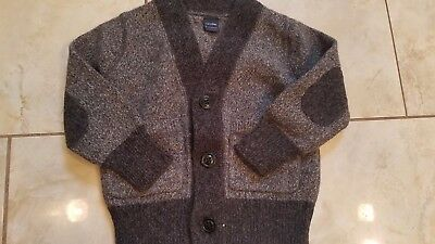 Toddler Boys Baby Gap Two Toned Charcoal Grey Wool Blend Cardigan Sweater 6/12M