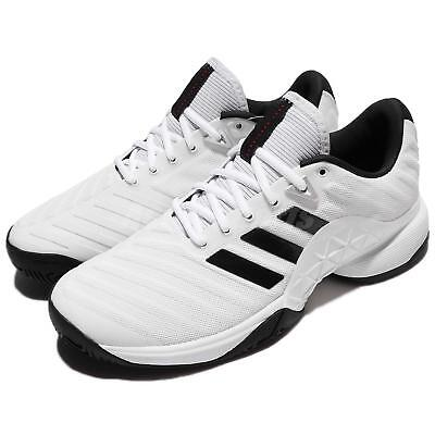 adidas Barricade 2018 White Black Men Tennis Shoes Sneakers Trainers CM7819