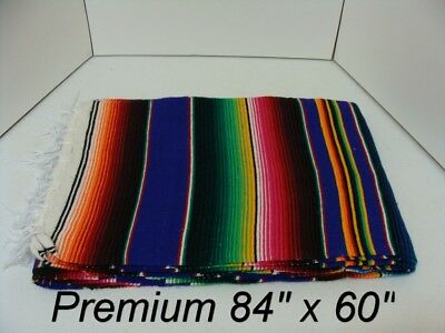 84 x 60 PURPLE Multi Color Large Sarape Mexican Saltillo Serape Throw Blanket