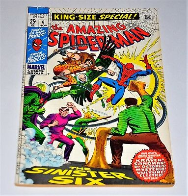Amazing Spider-Man Annual 6 Sinister 6 1969