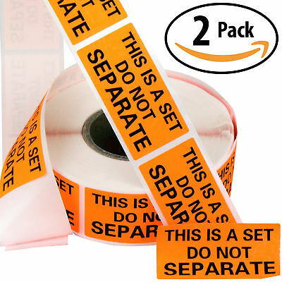 Do Not Separate Stickers 2 Pack Orange Sticker Roll Ideal Shipping Labels Supply