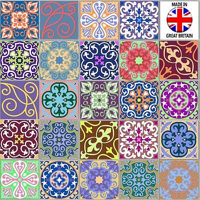 """4/6"""" Pack Traditional Moroccan Tile Sticker Decal Transfer Kitchen Bathroom TP58"""