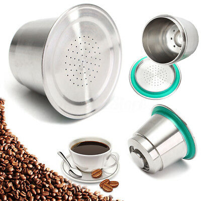 Coffee Capsule Cup Stainless Steel Metal Reusable Refillable Pod For Nespresso