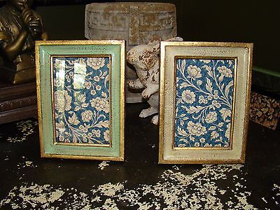 2 Gold Gilt Handmade Italy Picture Photo Frame French Country Cottage Frames
