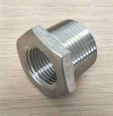 "Hex Bushing Stainless Steel 304 1"" x 1/2"" NPT Guardian"