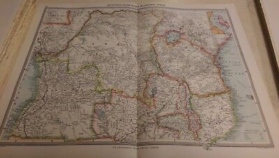 Central Africa Nos 143-144: Map from Harmsworth Universal Atlas (c.1900)