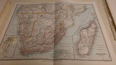 South Africa Nos 145-146: Map from Harmsworth Universal Atlas (c.1900)
