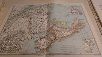 Maritime Provinces Nos 159-160: Map from Harmsworth Universal Atlas (c.1900)
