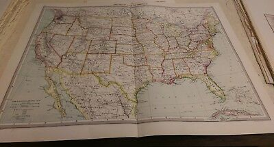 United States Nos 167-168: Map from Harmsworth Universal Atlas (c.1900)