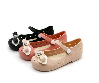 NEW Mini Melissa Bowknot Nest Shoes Girl Sandals Kids Toddler US Size 6-11