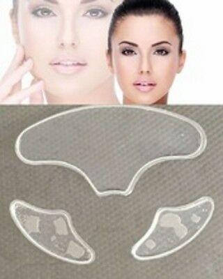 Forehead Frown Line Wrinkles Eye Anti Ageing Reusable Pad Chest Neck 20+Uses