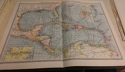West Indies Nos 179-180: Map from Harmsworth Universal Atlas (c.1900)