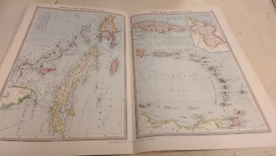 West Indies Nos 183-184: Map from Harmsworth Universal Atlas (c.1900)