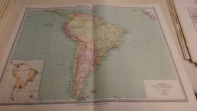 South America Nos 185-186: Map from Harmsworth Universal Atlas (c.1900)
