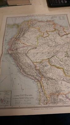 NW South America Nos 189-190: Map from Harmsworth Universal Atlas (c.1900)