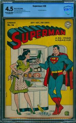Superman # 36  Lois Lane cover !  CBCS 4.5  scarce Golden Age book !