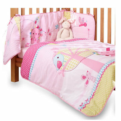 New in pack Clair de lune lottie & squeek cot or cot bed quilt & bumper set