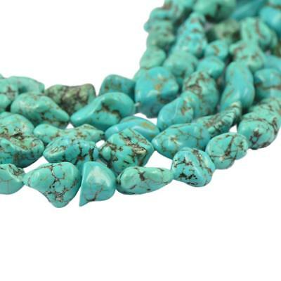 """Natural Turquoise 7X12MM 100% Real Gemstone Nugget Loose Beads Strand 15"""" AA1"""