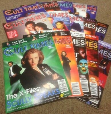 Cult Times Magazine, collection of the first 15 issues (1995/1996)