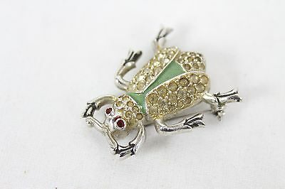 Vintage Beetle Insect Bug Brooch Pin Collectable Rare Old Unique Jewelry Cool