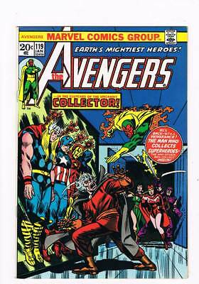 Avengers # 119  In the Clutches of the Collector !  grade 9.0 scarce book !