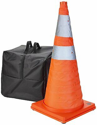 """5Pc Safety Lighted Collapsible Portable Traffic Safety Cone Emergency 28"""" Orange"""