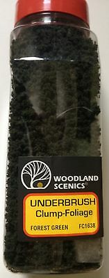 Woodland Scenics  Forest Green Underbrush Clump-Foliage # FC1638 Factory Sealed