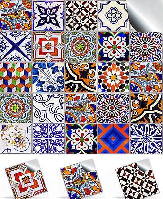 """4/6"""" Pack Traditional Moroccan Tile Sticker Decal Transfer Kitchen Bathroom TP59"""