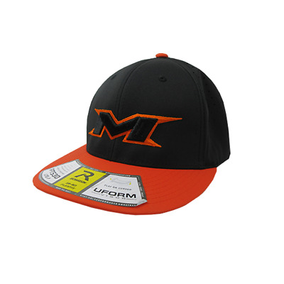 Miken Hat by Richardson (PTS30) Orange/Black/Black/Orange/Black XS/SM