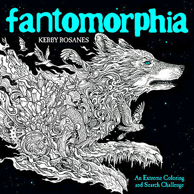 Fantomorphia Adult Colouring Book Creative Art Therapy Dragons Fantasy Monsters
