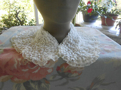 Antique Lace Collar With Layered Lace In Very Good Unused Condition, Circa 1930