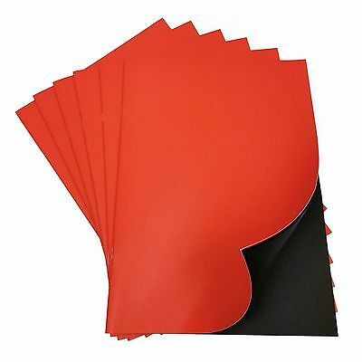 A4 Scrapbook / Project Book - Red Cover with 24 Black Pages 120gsm - Made in UK