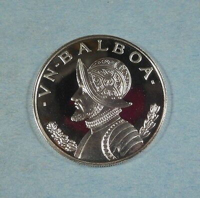 1974 PANAMA 1 BALBOA COIN  - Silver - PROOF